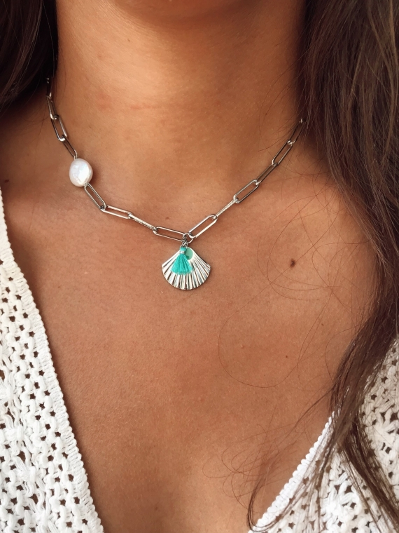 Necklace DRADE silver plated