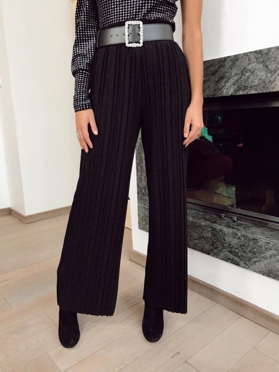 Pantalon plissé scintillant FEDERI noir