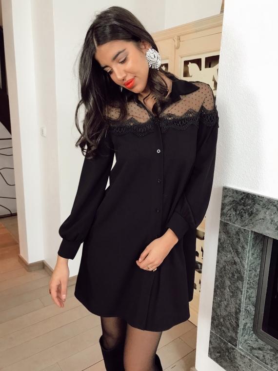 Robe chemise ODINE noire