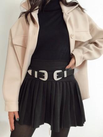 Jupe plissée BELL noire