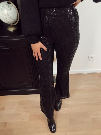 Pantalon flare sequins GALA