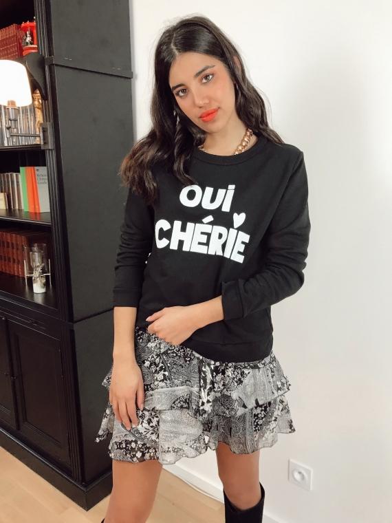 Black OUI CHERIE Sweatshirt