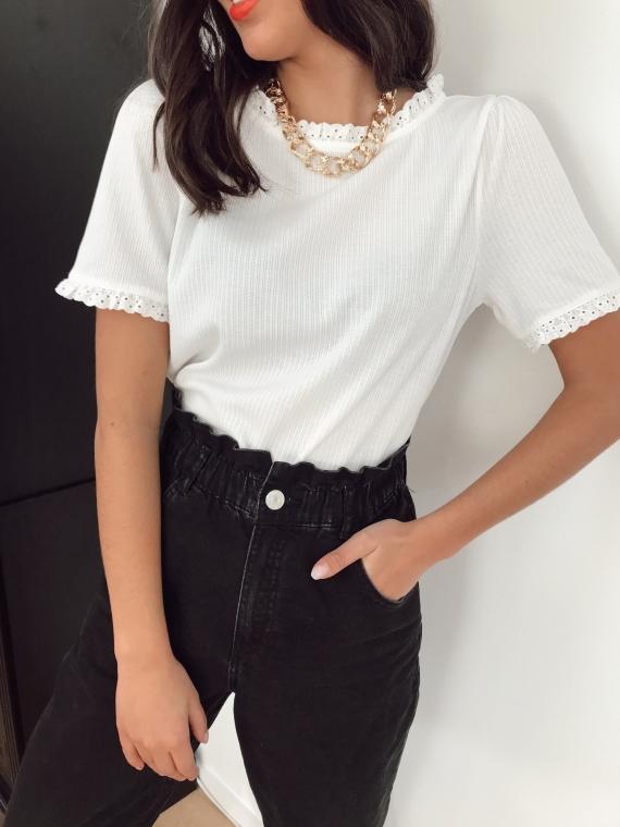 White MAZURE T-shirt