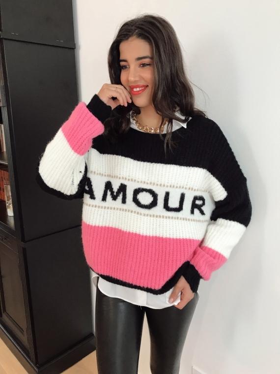 Black LOVE Sweater