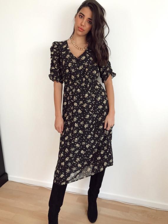 Black VANNINA floral dress