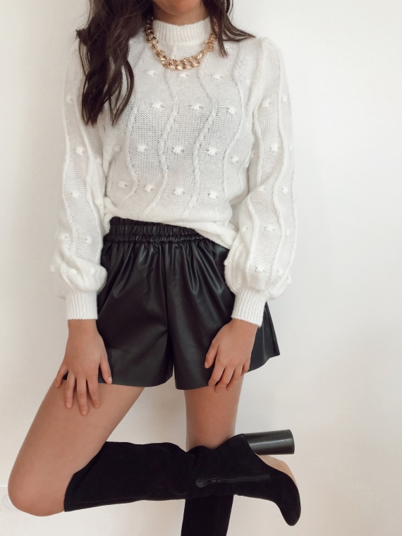Pull reliefs MARIE blanc
