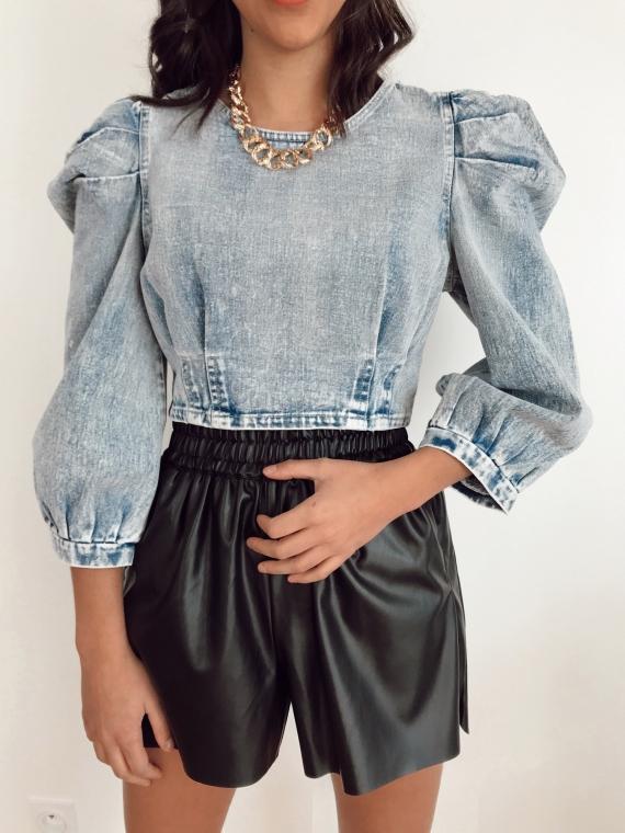 Top en jeans DIDO bleu
