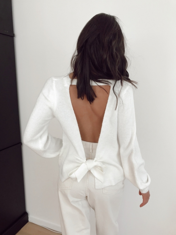 Pull noeud TEO blanc