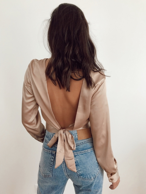 Blouse dos nu ORCHIDEE bronze