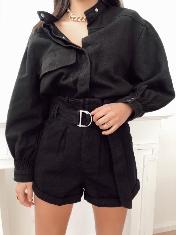 Black BASTIA denim shorts
