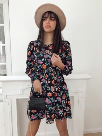 Robe fleurie DONA noire