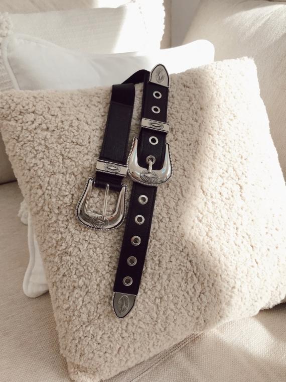 Double buckle elastic belt SOHO