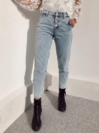 Jeans mom bleu clair NELSON
