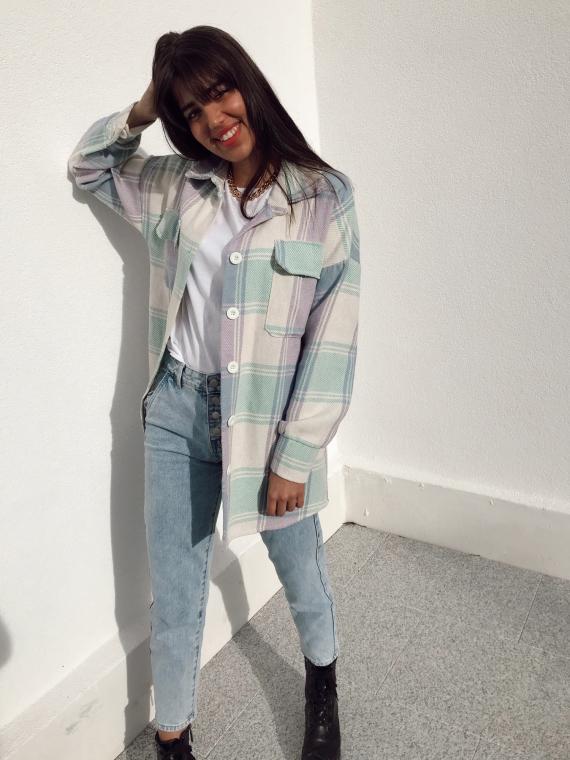 Chemise à carreaux OPALINE