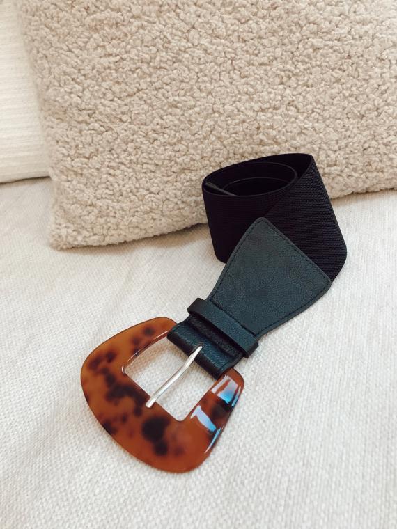 Black ANOUK Elastic buckle belt