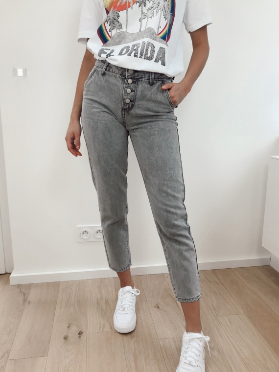 Jeans mom NELSON grey