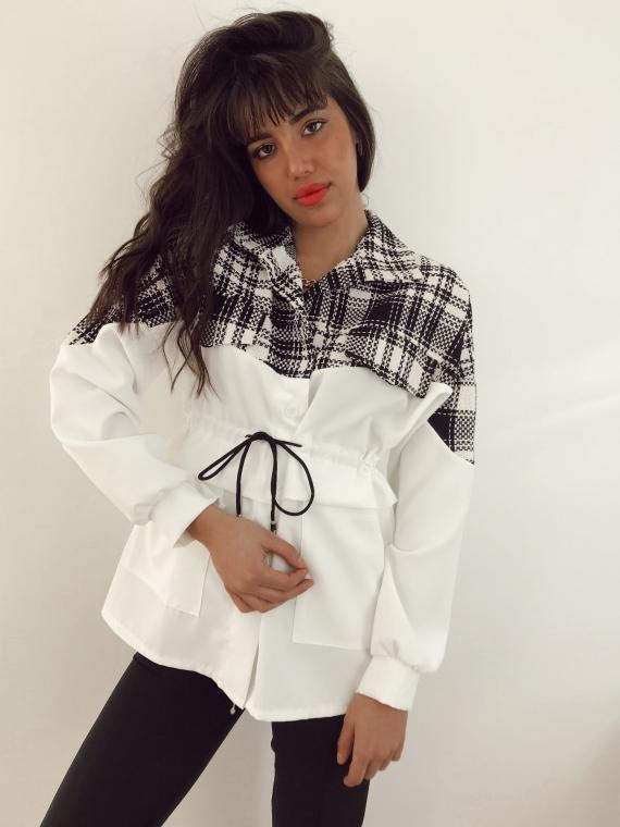 Veste avec tweed ORLANDO blanche