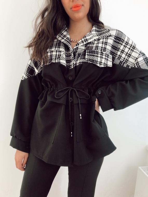 Veste avec tweed ORLANDO noire