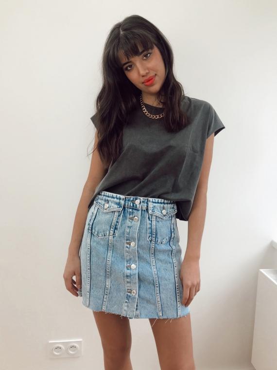 Jupe en jeans à poches RAVEN