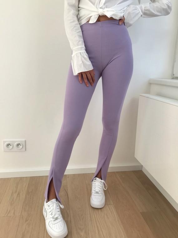 Pantalon à fentes COOPER lilas