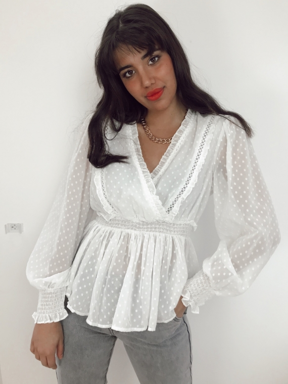 White KYOTO blouse