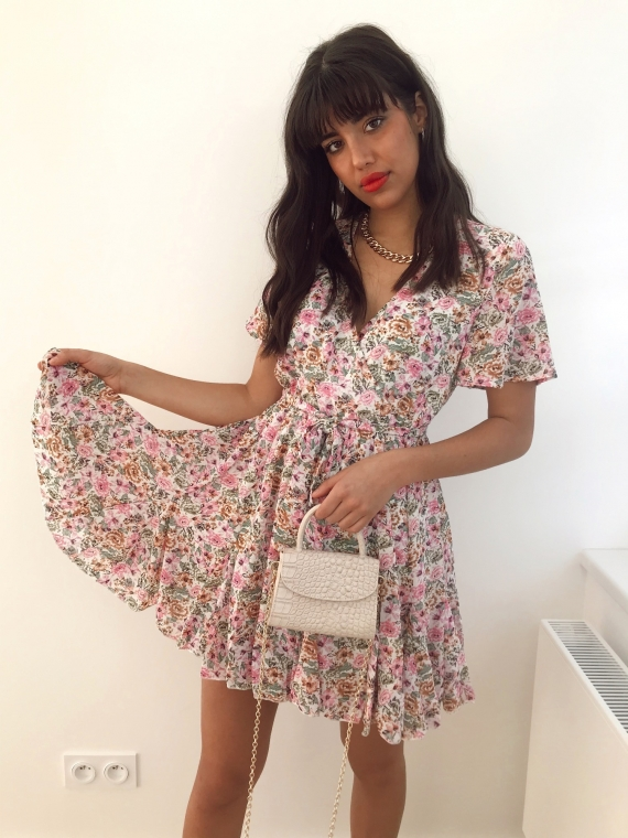 White ADRIEL floral dress