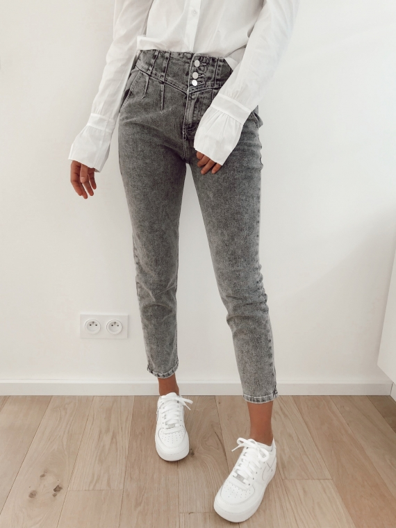 Grey JACOB mom jeans