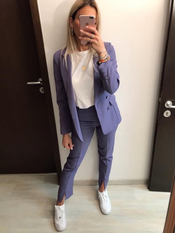 Ensemble blazer et pantalon TALIS violet