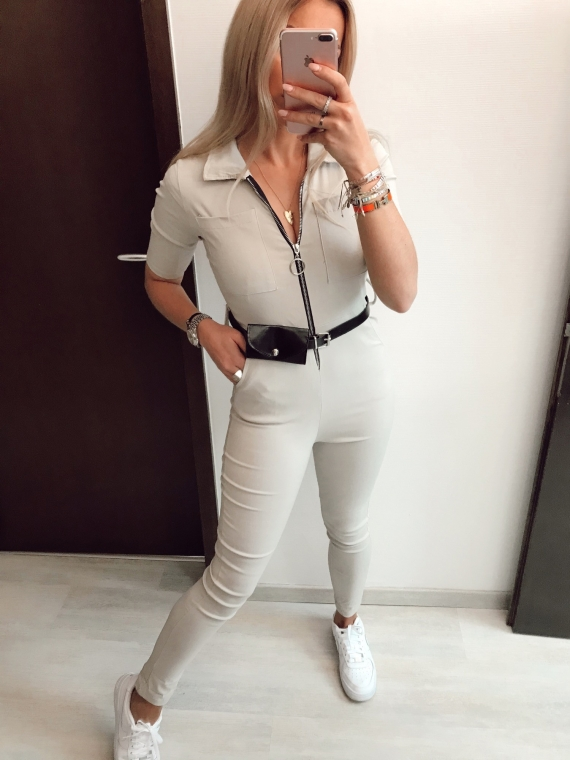 Combinaison ceinture NADIA beige