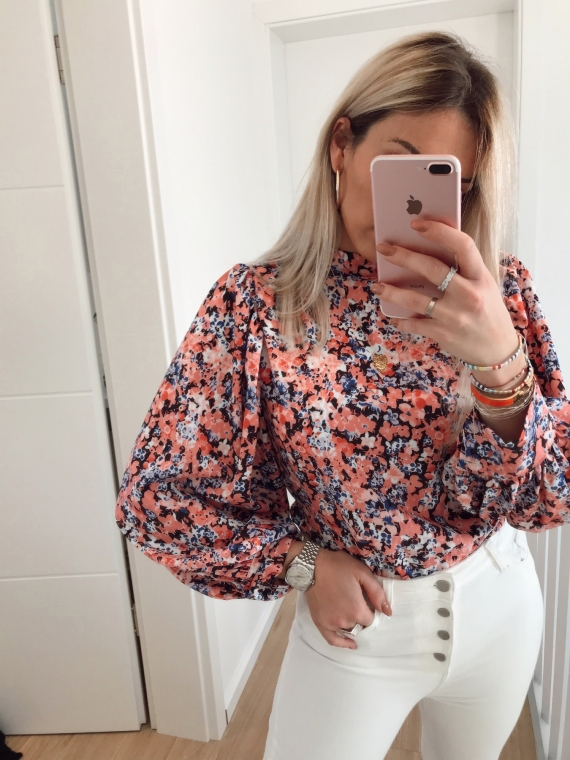 White ISLAND floral blouse