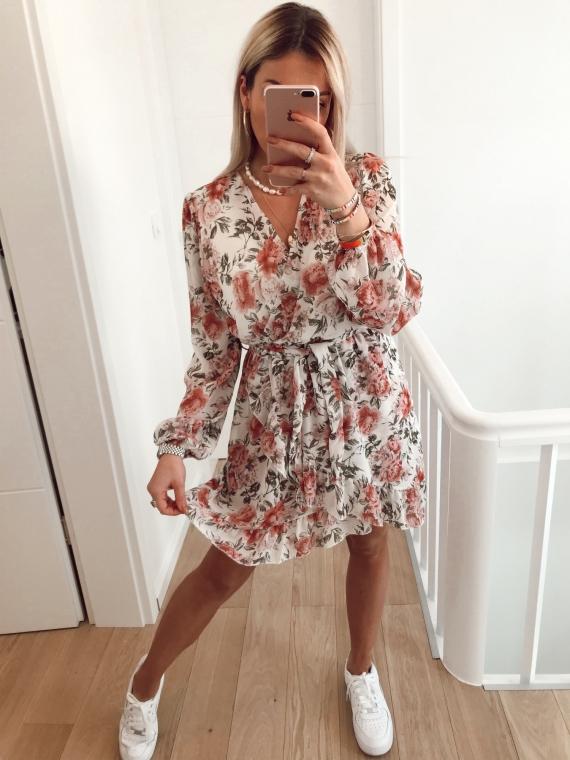 White MANDALA flower dress