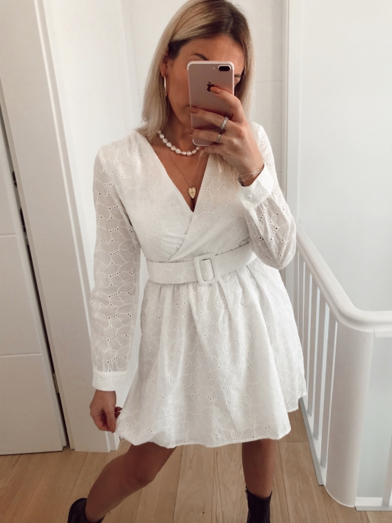 Embroidered FEELING dress