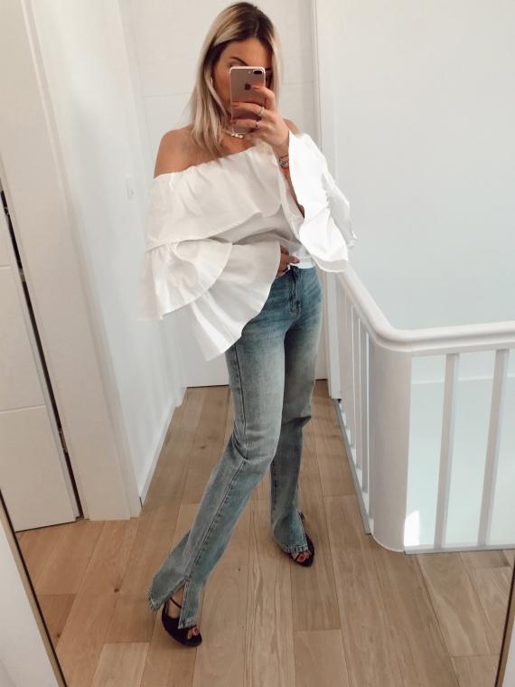 Mom Jeans Slit Jeans SUN KISSED