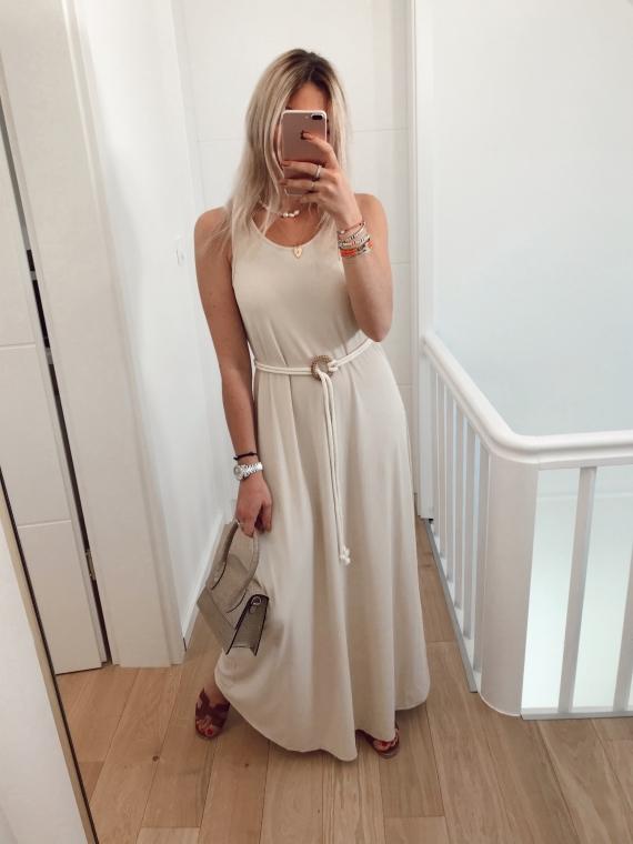 Beige REASONS long dress