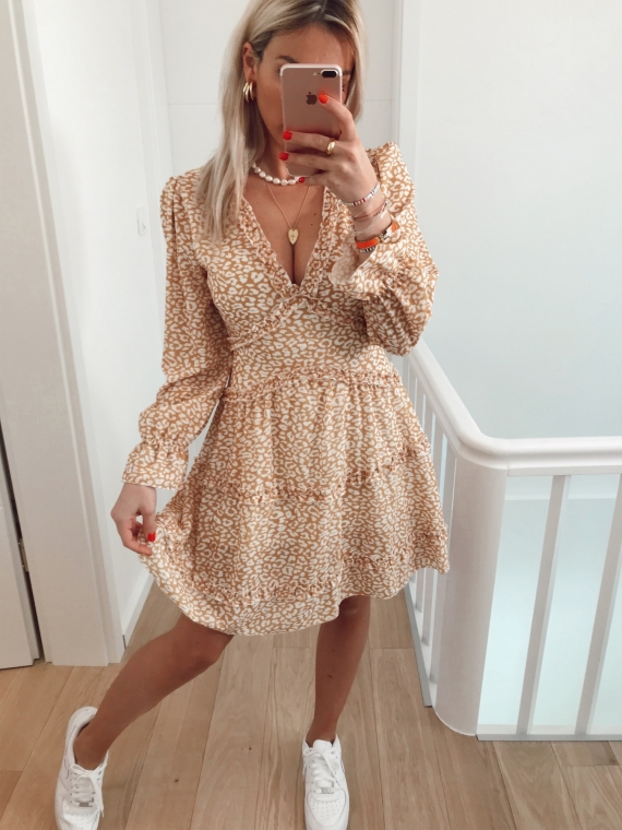 PRE-ORDER Yellow BOLTON Leopard Dress