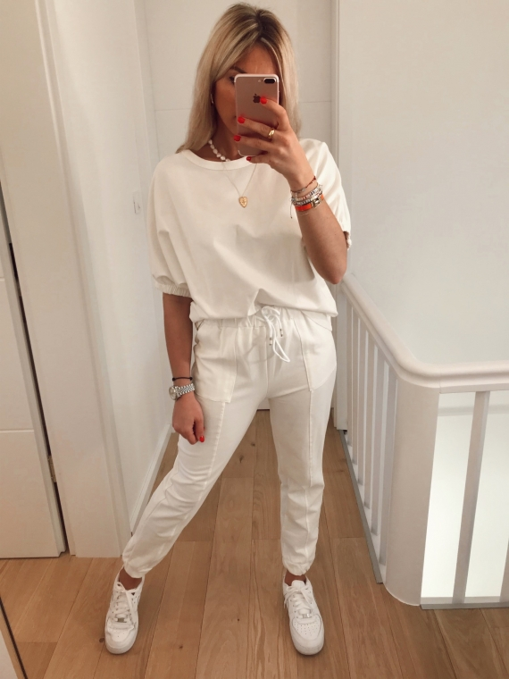 Ensemble jogging LAZZY blanc