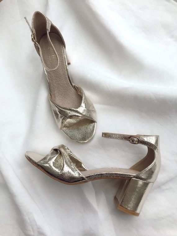 Sandales à talons GLORY dorées