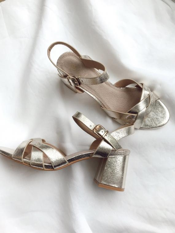 Sandales à talons EVER dorées