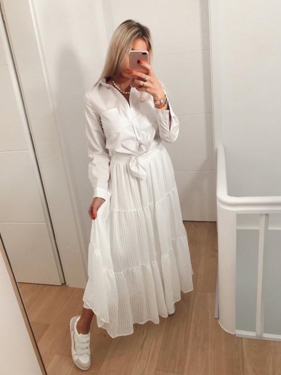 White VANITY long skirt