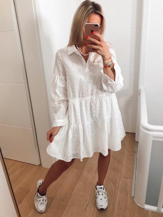 Robe brodée ZADIE blanche