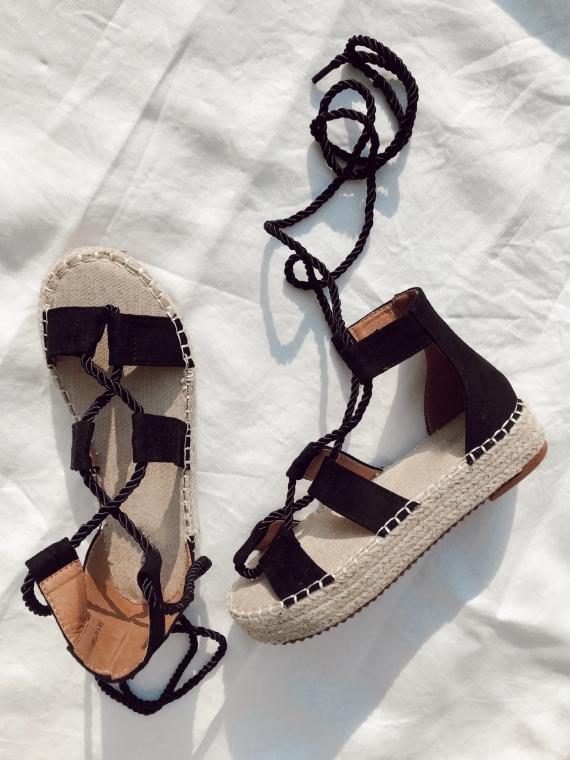 Sandales plateformes BELA noires