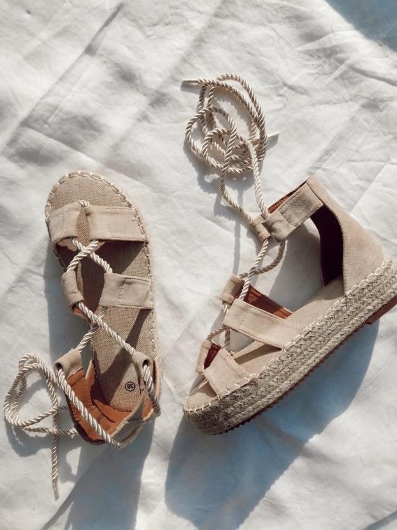 Sandales plateformes BELA beiges