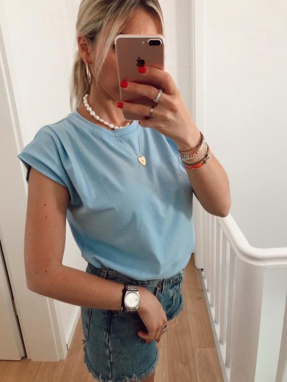 T shirt basique NATY bleu