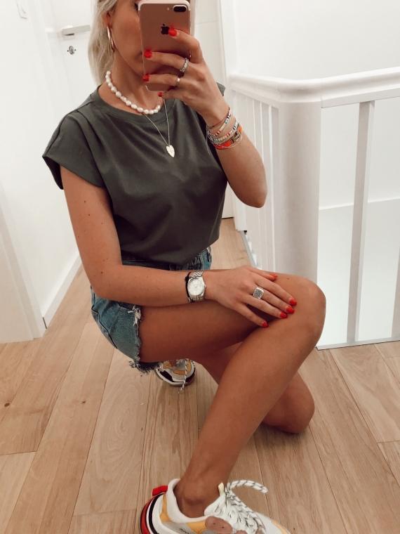 T shirt basique NATY kaki