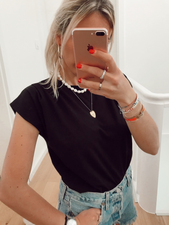 T shirt basique NATY noir
