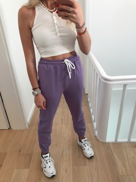 Jogging basique LUCKY lilas