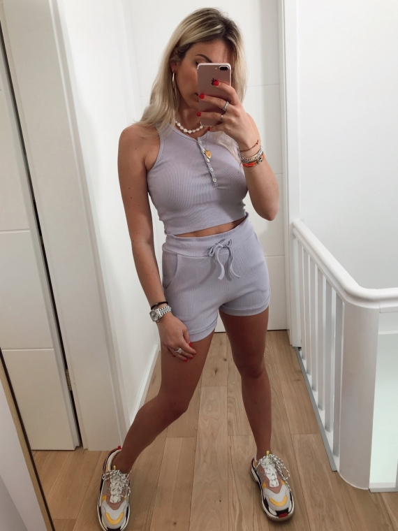 Ensemble top et short HECTOR lilas