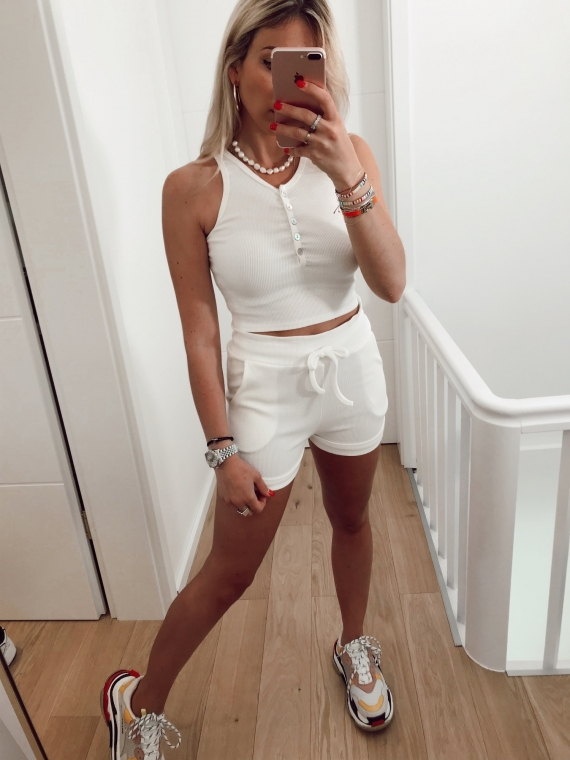 Ensemble top et short HECTOR blanc