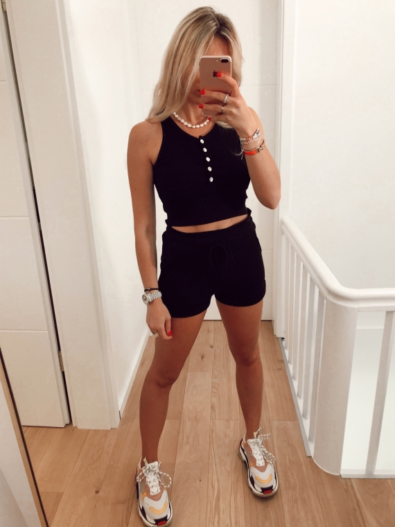 Ensemble top et short HECTOR noir