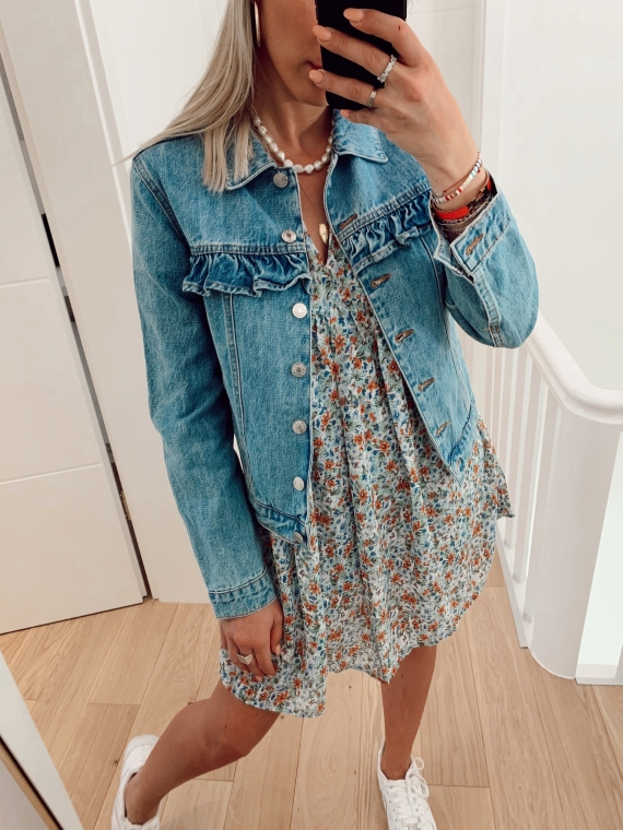 RITA  Frill Jeans Jacket